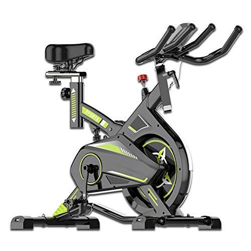 Bicicleta Spinning Profesional,Indoor Cycling LCD Pantalla Electronica Sensor de Frecuencia Cardiaca,Resistencia Variable...