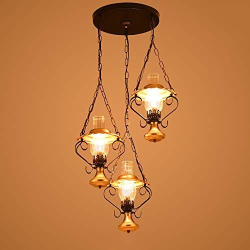 Luz colgante moderna Barra de barra, araña de metal rústico de vintage, lámpara de vestíbulo, altura ajustable, luz de comedor, iluminación de sala de estar, colgante de cocina Linterna Linterna Linte