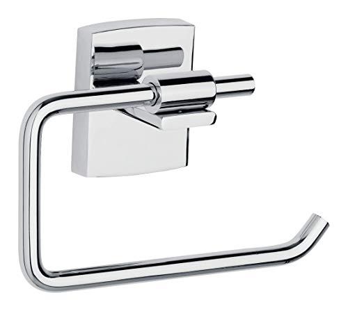 tesa klaam Toilettenpapierhalter selbstklebend, inkl. Befestigungsset, garantiert rostfrei, 95mm x 142mm x 47mm