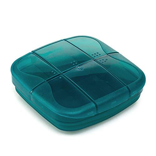 Ruikey Pillendose 7 Tage 6 Fächer,2 Schichten Pillenbox Tablettendose Tabletten Box Medikamentenbox für Reise