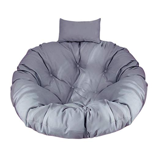 Nrkin, cuscino per poltrona sospesa, cuscino per dondolo in polyrattan/rattan, cesto sospeso, cesto a dondolo, cuscino per sedia a dondolo, cuscino rotondo, per decorazione domestica grigio