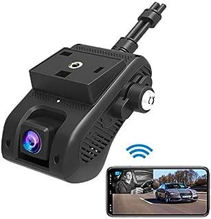 JC200 Dual Dash Cam, Lncoon 3G/WiFi Car Dash Camera 1080P with 3G Live Video Streaming, GPS Tracking, Dashboard Camera DVR Recorder with Loop Recording/G-Sensor/Power Cutoff, Vibration/SOS Alarm