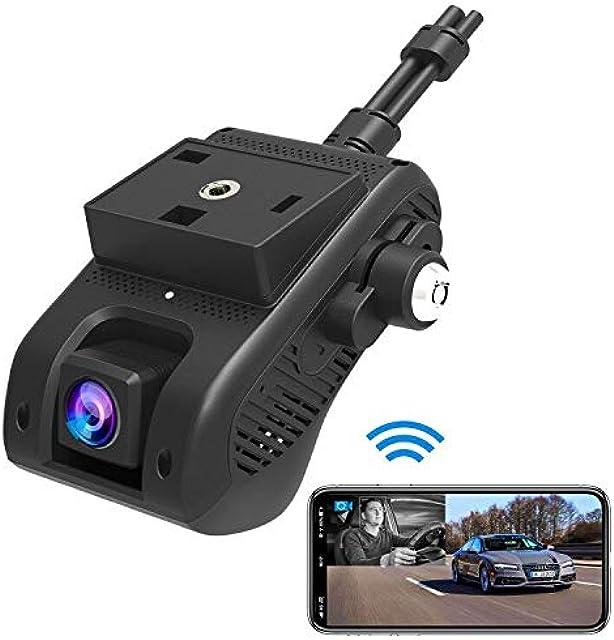 Dash Cam Lncoon JC200 3G/WiFi Dual Cámara para Coche 1080P HD con GPS DVR Cámara Loop Grabación/G-Sensor/Corte de energía Alarma de Vibración/SOS 3G Transmisión de Video en Vivo a Través de APP/PC