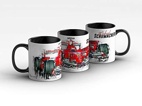 gasoline.gallery Formel 1 Tasse - Michael Schumacher - Scuderia Ferrari - 2006 Front Kaffeebecher Schwarz