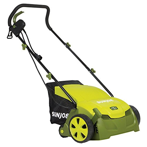 Sun Joe 13-in. 12-amp Electric Scarifier and Lawn Dethatcher with Collection Bag