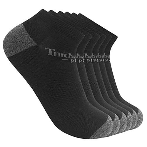 Timberland PRO Herren 6-Pack Performance Low Cut Socks Freizeitsocken, schwarz, Medium