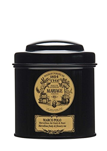 Mariage Freres. Marco Polo Tea 100g Loose Tea in a Tin Caddy (1 Pack) MR24LS
