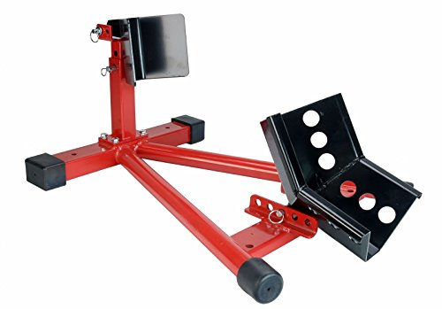 Dragway Tools 1500 lb Fully Adjustable Motorcycle Wheel Chock Stand fits 16' - 21' Tires