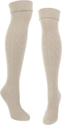 normani Herren Trachten Kniebundhosen Strümpfe Baumwolle Farbe 1 Paar Naturmelange Größe 43/46