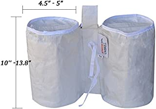 BenefitUSA Weights Bag, Leg Weight for Pop up Canopy Tent Sand Bag 4 Pack Weighted Feet Bag (11 (L) x 10.5 (H), White)
