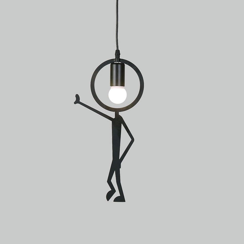 Rishx Schwarz Kreative Persnlichkeit Restaurant Deckenpendelleuchte Retro Nostalgisch Edison E27 1-Light Suspension Hngelampe Büro Galerie Kinder Schlafzimmer Deckenbeleuchtung (Gre   Style B)