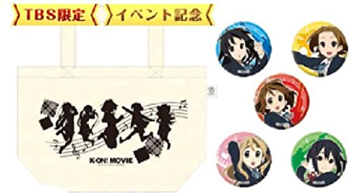 [K-On  x TBS STORE] movie  K-ON   Mini-tote bag, buttons set (japan import)