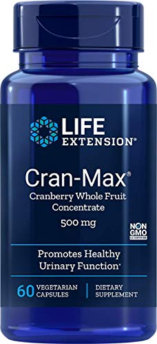Life Extension Cran-Max 500 Mg, 60 Vegetarian Capsules (package may vary)