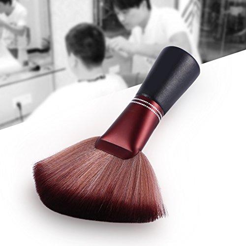 Kappersborstel nekborstel nieuw 1 stuks kappersnek schoonmaakborstel professionele vezel kappers reinigingsgereedschap met houten handvat salon nekborstel