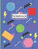 80s Notebook: Geometric Pattern Notebook. Blank, Lined, Notebook. For School, Home, Or Office.