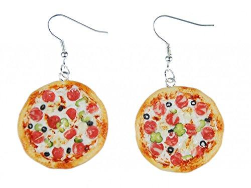 Aretes pizza pendientescolgador pizza alrededor detal 3D