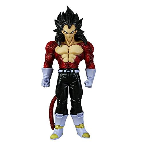 Ylmnku Dragon Ball Goku förvandlas till röd fjärde beställning vegeta barn actionfigur Aberdeen dekorationsmodell leksak gåva 27 cm