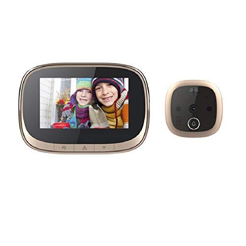 OWSOO 720P Mirilla Digital WiFi con 5.6 Pulgadas HD Pantalla LCD, Ángulo Amplio de 170 Grados, Control de App, Tomar Fotos, Intercomunicador Bidireccional, Detección de Movimiento, Visión Nocturna IR