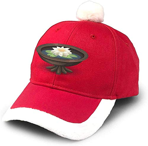 GGdjst Oriental Water Lily Nikolausmütze Dad Trucker Santa Hat Red Xmas Weihnachtsmützen Adult Women Men Children Teen Boy Girls Party Decor Gift Decorations Ornament