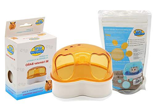 BPS Baño Jaula para Hámster Gerbille Animal Pequeño con Arena de Baño Jerbos Bathing Sand 3 Modelos Tamaños S/M/L Color se envía al Azar (Modelo M: 11.5x9x8 cm) BPS-5442 * 1 🔥