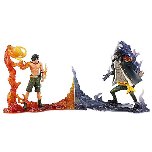 Zpzzy One Piece Portgas D Ace VS Marshall D Teach Versión De Combate Modelo De Personaje De Anime Estatua De Figura De Material De PVC Modelo De Figura De Anime Decoraciones De Escritorio Regalos/Ad