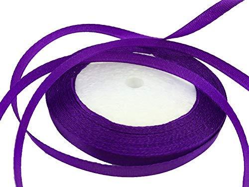 Solid Color Satin Ribbon 1/4',25yds (Purple)