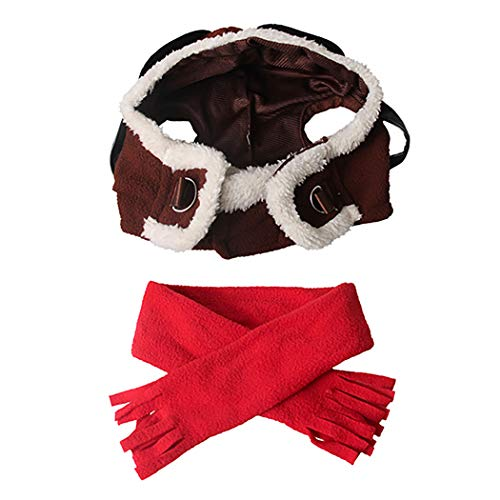 Bangcool pet hoed mode vintage piloot huisdier partij hoed hond hoed huisdier kostuum hoed met sjaal