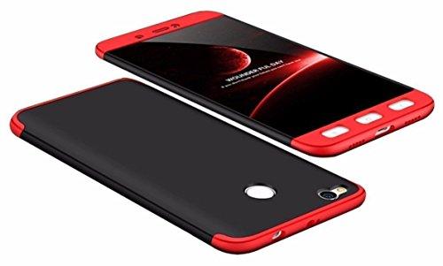 Infinite Galleria ® 3 in 1 GKK 360 Degree Full Body Protection Shockproof Hard Bumper Back Case Cover for Xiaomi Redmi Mi 4 / Mi4 - Black & Red