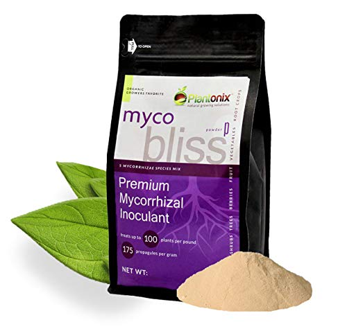 Myco Bliss Organic Mycorrhizal Fungi (5 Endo Mychorrhizae Species Mix) for Plants (Powder, 1 lb)