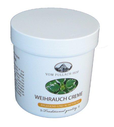 Crème d'encens traditionnelle Pullach Hof - 250 ml - Contient de l'huile d'encens naturelle - Pour peaux sensibles, sèches et matures - 6
