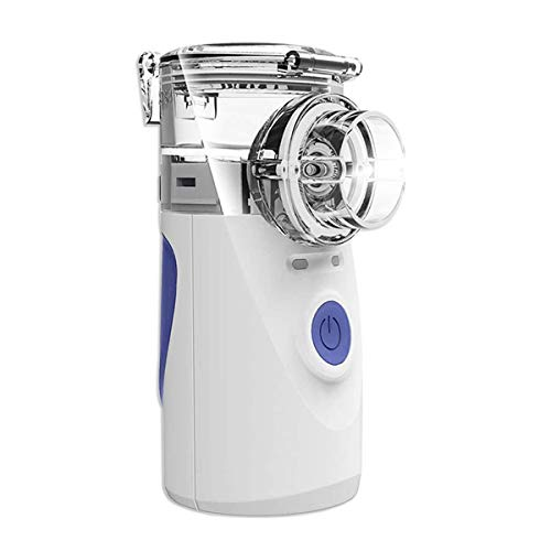 Inhalationsgerät tragbar Vernebler Set Eräuscharmes Inhalator mit Mundstück und Maske für Kinder und Erwachsene, Atomisierte Partikel zur Verbesserung für Atemwegserkrankungen, Mehrweg