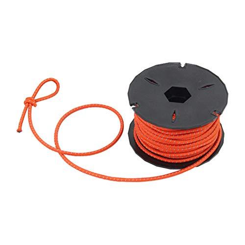 Yihaifu 15m elástico Fuerte látex Cuerda m Proyecto de Tienda de campaña de Choque Cuerda elástica Cadena de joyería de DIY Que Hace la Herramienta de Tienda al Aire Libre, Naranja
