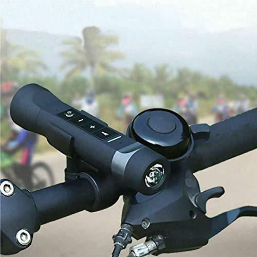 Altavoz Bluetooth multifunción con Linterna, portátil para Montar en Bicicleta al Aire...
