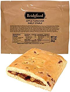 Apple Turnover MRE - Breakfast Snack Survival Food Ready to Eat Meals - 3 Pack
