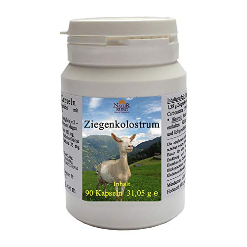 Kolostrum Biestmilch Erstmilch der Ziege 1er Pack (1 x 90 vegetarische Kapseln) - ★ 100% natürlich mit 230 mg Ziegenkolostrum Ziegenmilch je Kapsel - Nahrungsergänzungsmittel Colostrum - Immunsystem