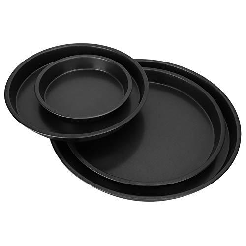 Surebuy Bandeja para Pizza, Plato Hondo para Pizza Buena conductividad térmica Resistente al Desgaste para la Cocina