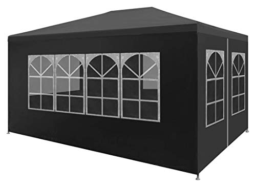 ZHENG Gazebo Plegable Carpas Plegables Gazebo Al Aire Libre Gazebo Gran Tienda De Campaña Gazebo Canopy Camping Evento De Camping Tienda, 3x4m