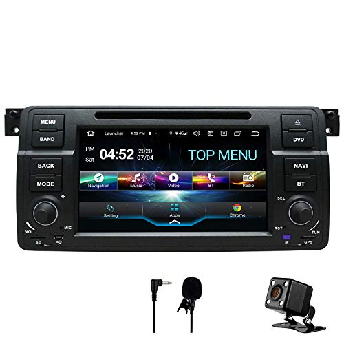 SWTNVIN Android 10.0 Coche Audio Cabezal estéreo se Adapta a BMW E46...