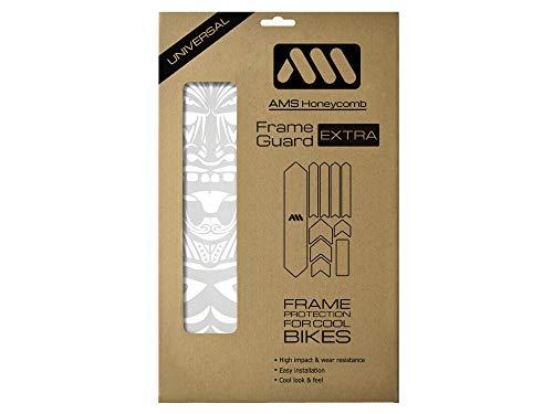 All Mountain Style AMSFG2WHMO Protezione Telaio XL ad Alto Impatto-Protegge la Tua Bicicletta da Graffi e ammaccature, Bianco/Maori Unisex Adulto