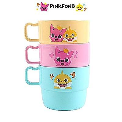 Baby Shark Family Plastic Cups Set (230ml) : 3pcs 1 Set