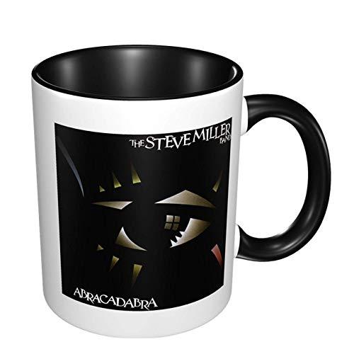 Steve Miller Band Taza de café de cerámica con impresión de moda, taza de té para oficina y hogar, maravilloso regalo de té