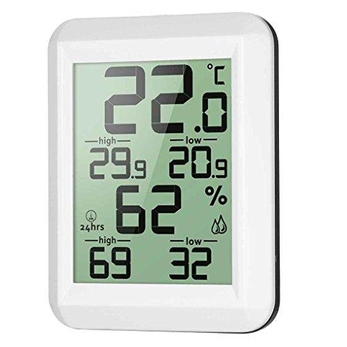 teng hong hui Digitale LCD-Thermometer-Hygrometer Elektronische Temperatur- und Feuchtigkeitsmessgerät MIN/MAX Aufzeichnungen Innenwetterstation