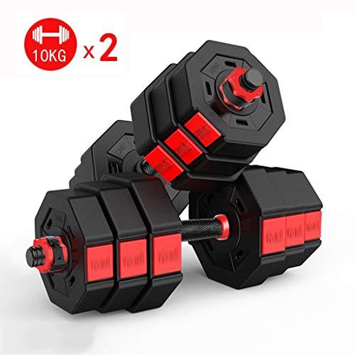 LOVELY Set di manubri 20KG (44lb) Pesi Staccabile Ottagonale Combinazione manubri Gym Equipment Regolabile manubri Body Building manubri Set Manubri Domestici