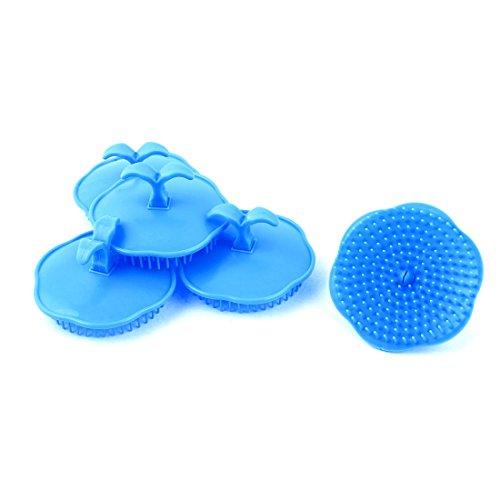 sourcing map 5 Stk Haar Kopfhaut Körper Massage Kamm Shampoo-Bürste Pflegespülung Blau