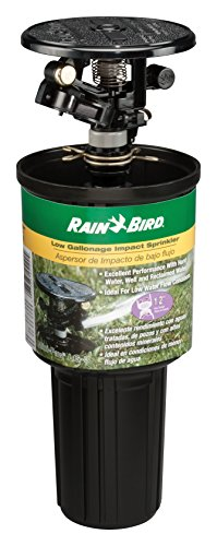 Rain Bird LG-3 Low Gallonage Pop-up Impact Sprinkler, Adjustable 0° - 360° Pattern, 26' - 41' Spray Distance