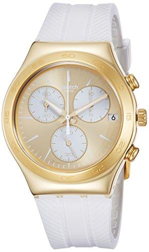 Swatch Reloj Cronógrafo para Unisex de Cuarzo con Correa en Silicona YCG415