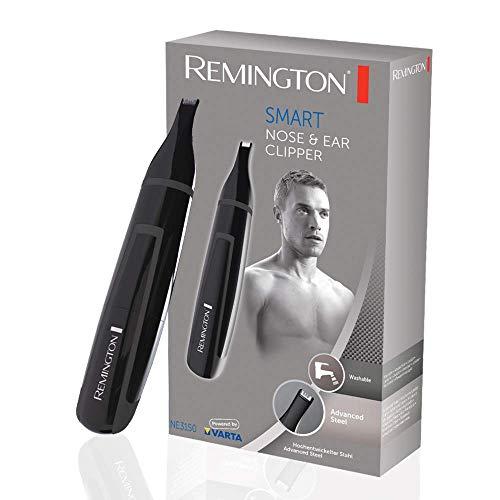 Remington NE3150 Smart -Cortapelos de Vello, Nariz y Orejas, Recortador con Cuchillas de Acero Avanzado, Lavable, Negro