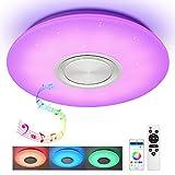 Lámpara LED de techo con mando a distancia, control de...
