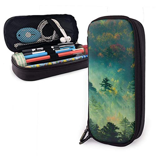 Lawenp Morning Forest Pencil Case,Large Capacity Pencil Bag with Durable Zipper Students Stationery Pen Bag for Pens and Other School Supplies