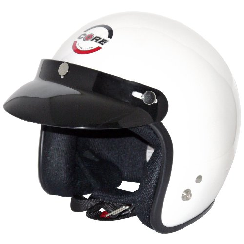 Core Vintage Open Face Helmet (White, X-Large)
